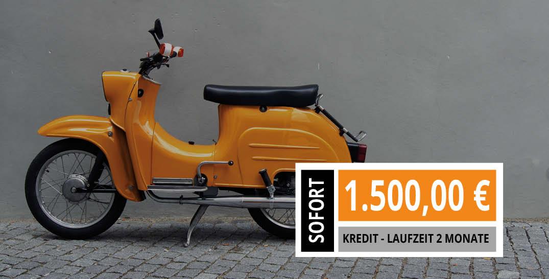 Moped beleihen im Autopfandhaus Stuttgart